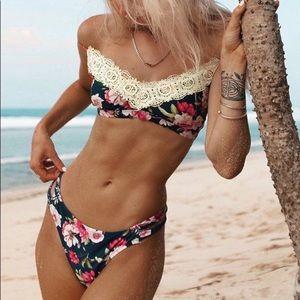 COPY - CupShe Flowered Bikini with Beautiful lace.